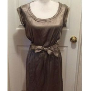 CO-OP Barneys New York Dress S Light Brown Raw Hem